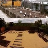 Diseño de jardín de muy bajo mantenimiento en Guadalajara. Año 2014.
