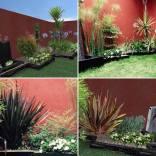 Proyecto de paisajismo 3D y jardín terminado, en México D.F. Año 2013.