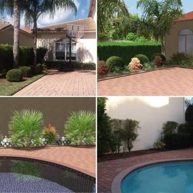 fotomontaje de jardín