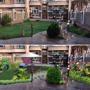 fotomontaje jardín