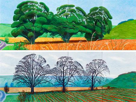 Árboles de Thixendale (David Hockney)
