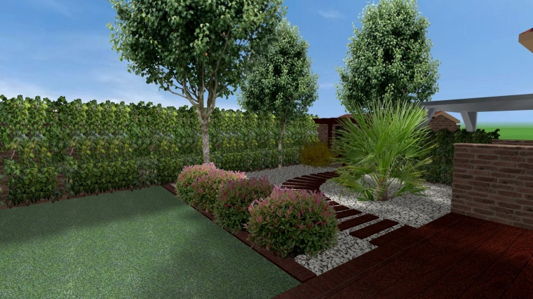 Jardín de bajo mantenimiento diseñado por TuJardínOnline