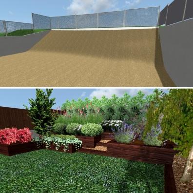 Antes y después de jardín