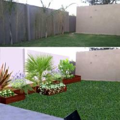 fotomontaje jardín mexico