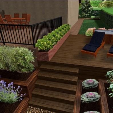 jardin unifamiliar vizcaya